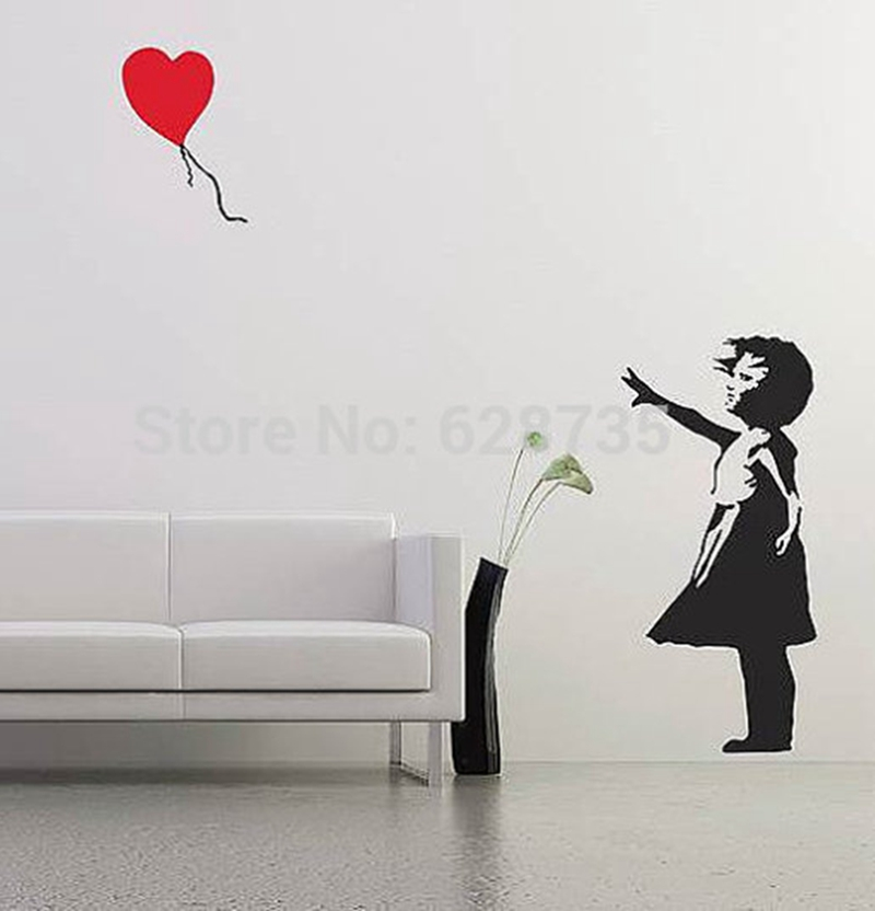 Attractive Aliexpress.com : Buy Banksy Wall Decal, Balloon Girl Inspired Banksy Vinyl Wall  Art Sticker ,free Shipping A2064 From Reliable Wall Art Stickers Suppliers  ... Part 18
