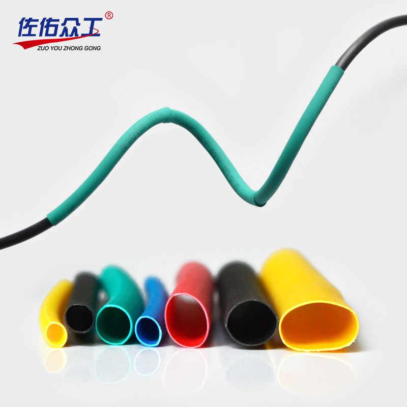 360 un 5mm de diámetro 30mm de largo poliolefina Calor Shrink Tubo Envoltura de cable negro manga