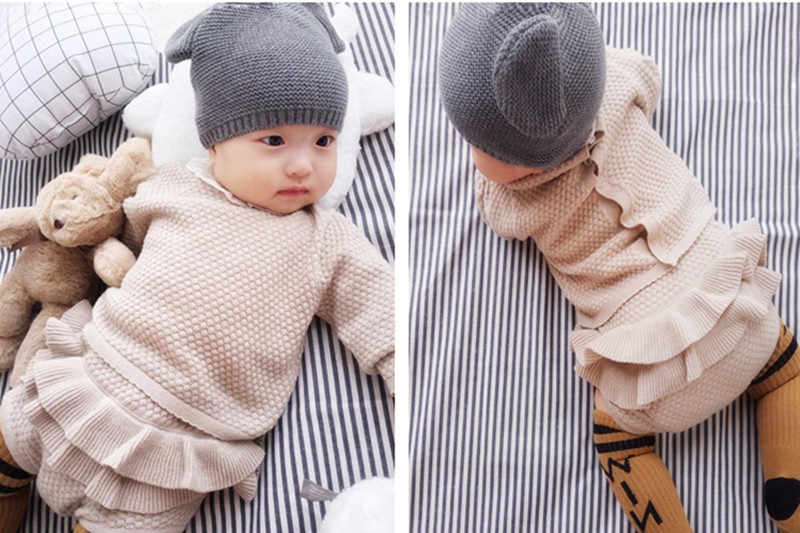 0f6a81dff3ab Detail Feedback Questions about Baby Girls Boys Clothing set Knitted ...