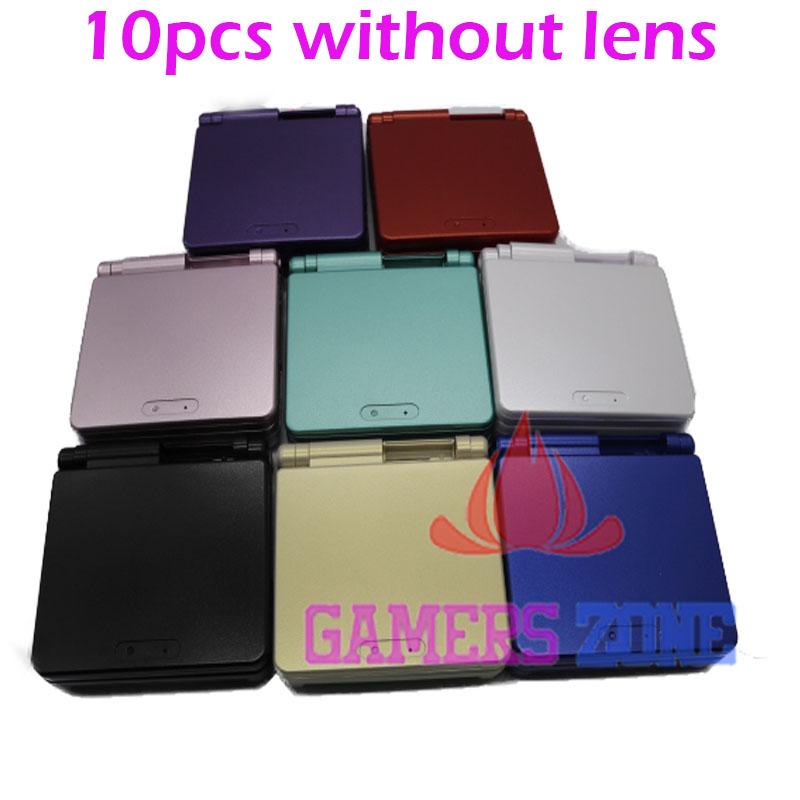 Prix pour 10 pcs cas de coquille de logement des pièces de réparation pour GBA SP Gameboy Advance SP sans écran lentille