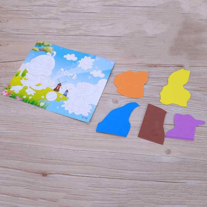 EVA naklejki diy Baby Animal 3D naklejka z pianki EVA Puzzle dla dzieci dzieci zabawki edukacyjne do nauczania początkowego