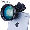 Ora Lente 2 em 1 Kit de Lente Da Câmera Do Telefone Celular Clipe 100 grau Lente Grande Angular + Lente Macro 12.5X para iPhone e Android Smartphones