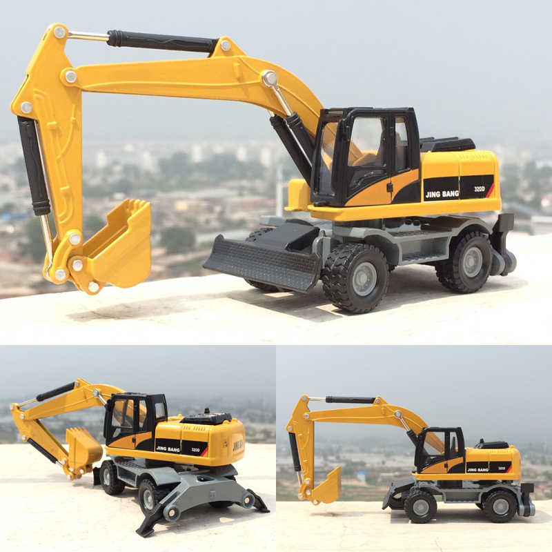 1:50 High simulation engineering vehicles, alloy model toys,Wheel excavator, mixer,excavator,diecast metal,free shipping