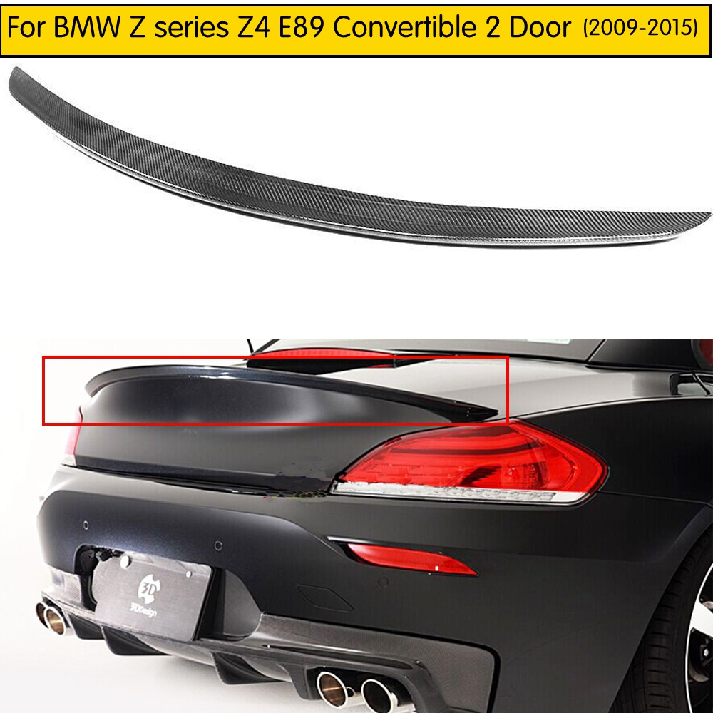 Carbon Fiber Rear Mirror Cover Fit for BMW E89 Z4 Convertible 2009-2015 Black