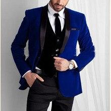 Custom Made To Measure синий жених Нарядные Костюмы для свадьбы для мужчин, заказ мужской костюм, Классические брюки синий смокинги для мужчин синий Slim Fit шерстяные костюмы