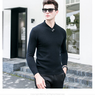 Sweater Men 2018 Spring New pullover Slim Fit Thin Mens Knitted Sweaters Male Curl Hem High Quality