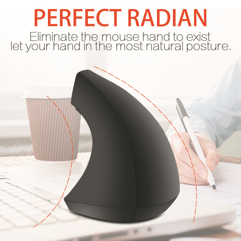 FGHGF Ergonomic hand holding vertical wireless mouse photoelectric five generation vertical right hand 2 4G mouse in Mice from Computer Office