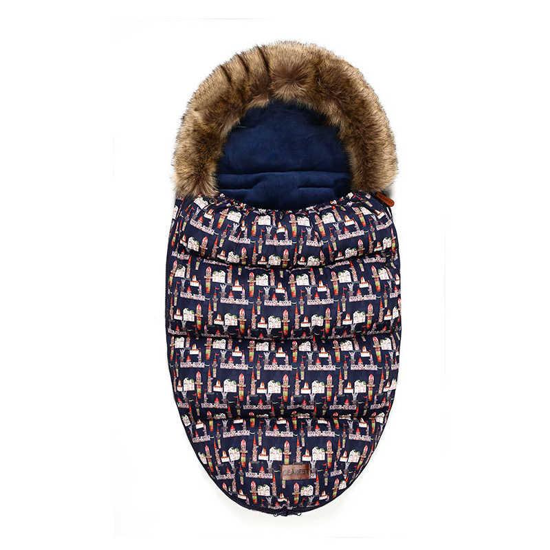 DEAREST 2019 รถเข็นเด็กทารกใหม่ cocoon sleeping anti-kick winter plus กำมะหยี่ dual-ใช้หนาผ้าฝ้ายเด็ก's hug