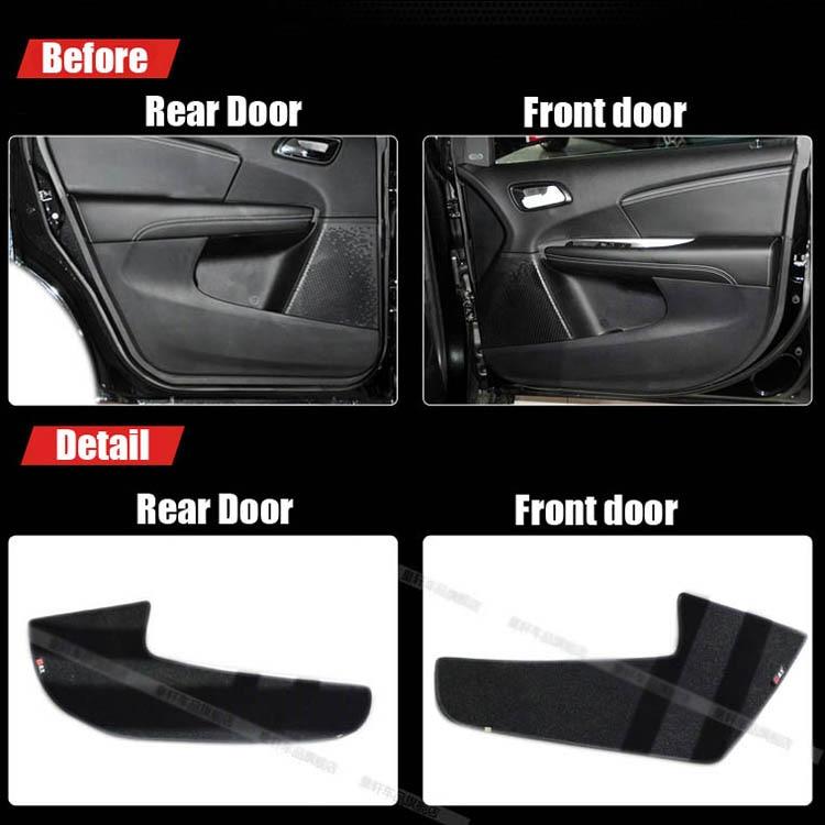 Ipoboo Savanini 4pcs Fabric Door Protection Mats Anti-kick Decorative Pads For Fiat Freemont 2012-2013 ipoboo 4pcs fabric door protection mats anti kick decorative pads for hyundai elantra 2012 2015