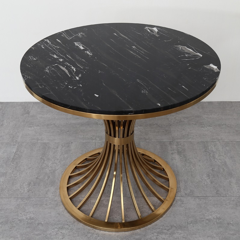 80cm(31) Round Marble Coffee Table / 70cm High Tea Table with Metal Stand / Marble 22kg Steel Frame 15kg80cm(31) Round Marble Coffee Table / 70cm High Tea Table with Metal Stand / Marble 22kg Steel Frame 15kg