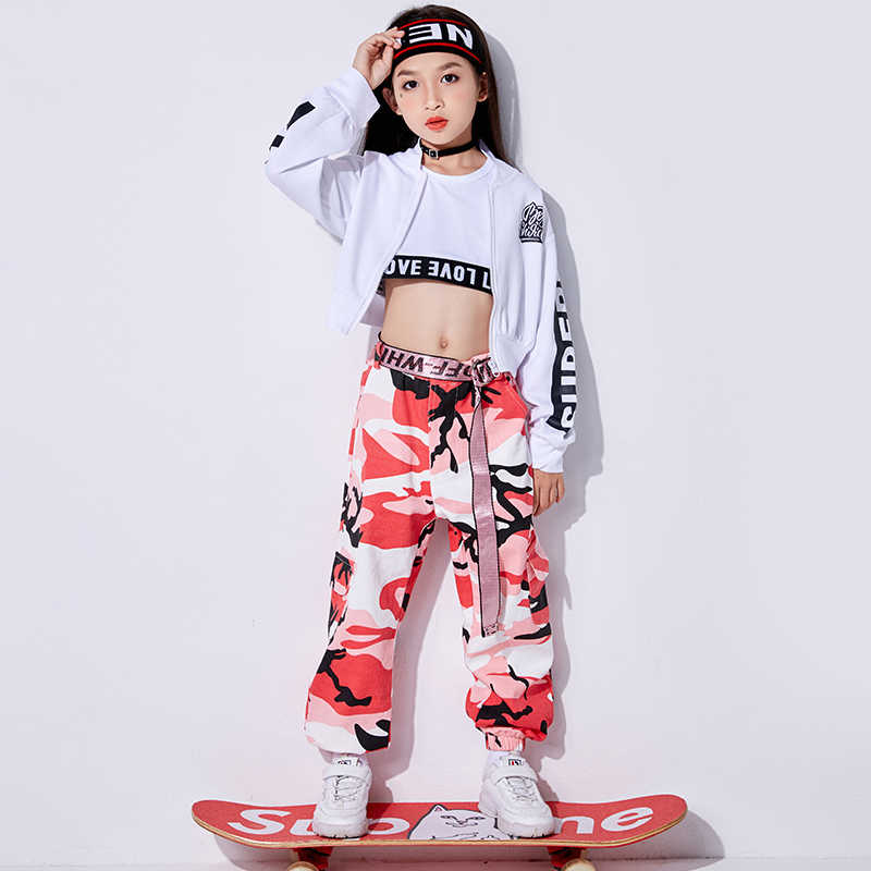 a85a8e28a214 Detail Feedback Questions about Jazz Dance Costumes Kids Hip Hop  Performance Clothing Girls Street Dance Practice Clothes Rave Stage Outfits  3 Pcs Set ...