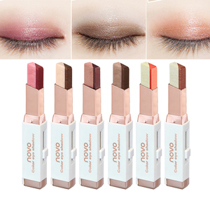 Eyeshadow Stick Stereo Gradien Shimmer Double Color Eye Shadow Cream Pen Eye Makeup Cosmetics Tool Waterproof