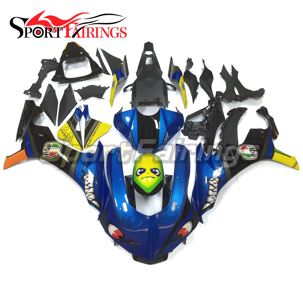 Full Shark Blue Motorcycle Fairing Kit For Yamaha YZF 1000 R1 2015 2016 YZF-R1 15 16 Injection Cowlings Body Kits Fairing Kits motorcycle fairings fit for yamaha yzf r1 yzf 1000 yzf r1000 yzf1000 2007 2008 07 08 abs injection fairing bodywork kit a0802