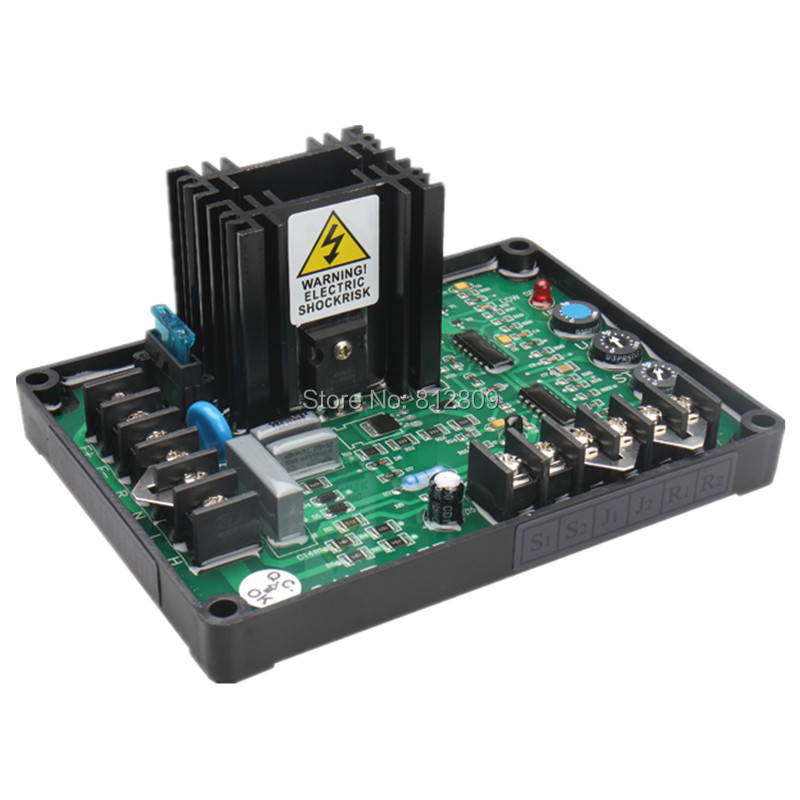 GAVR-15A Universal Brushless Generator Avr 15A Voltage Stabilizer Automatic Voltage Regulator BlACK capacitance