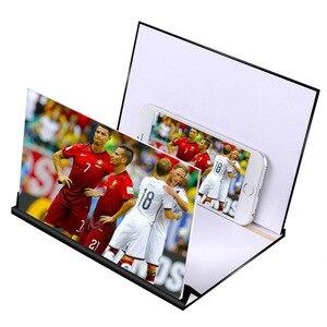حار بيع 5D الهاتف المحمول مكبر للصوت المكبر مسند متحرك الهاتف المحمول مكبر للصوت HD الفيديو العين 4 الفيديو ثقب السحر نظارة عادية