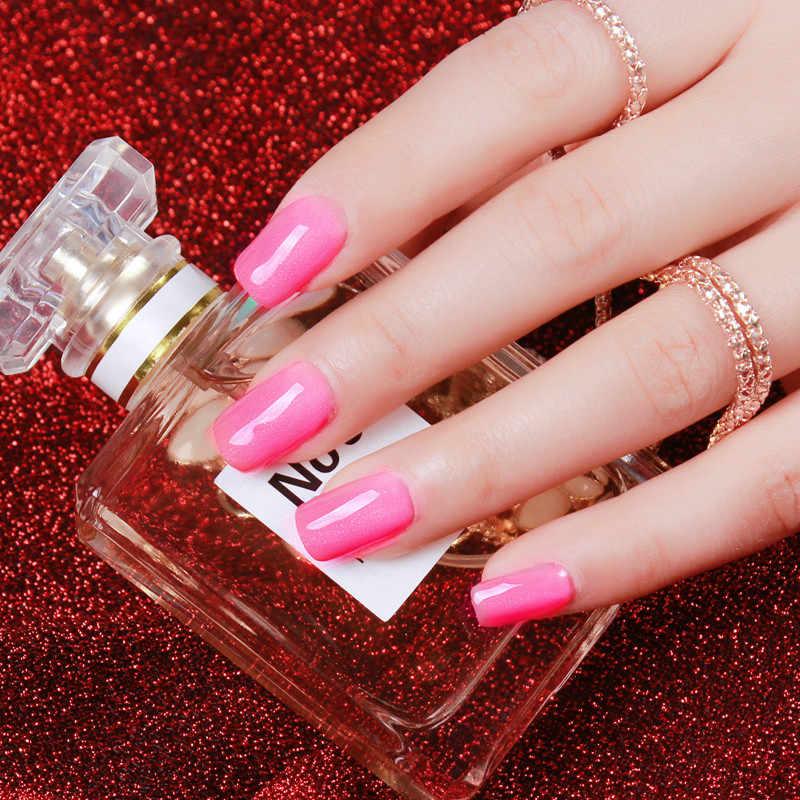 2019 ml de 15 SLOOMEY Gel Unha Polonês 316 Cores Semi Permanente Pintura Verniz Gel Glitter Meia Off Rosa Cartilha Prego polonês Gel UV