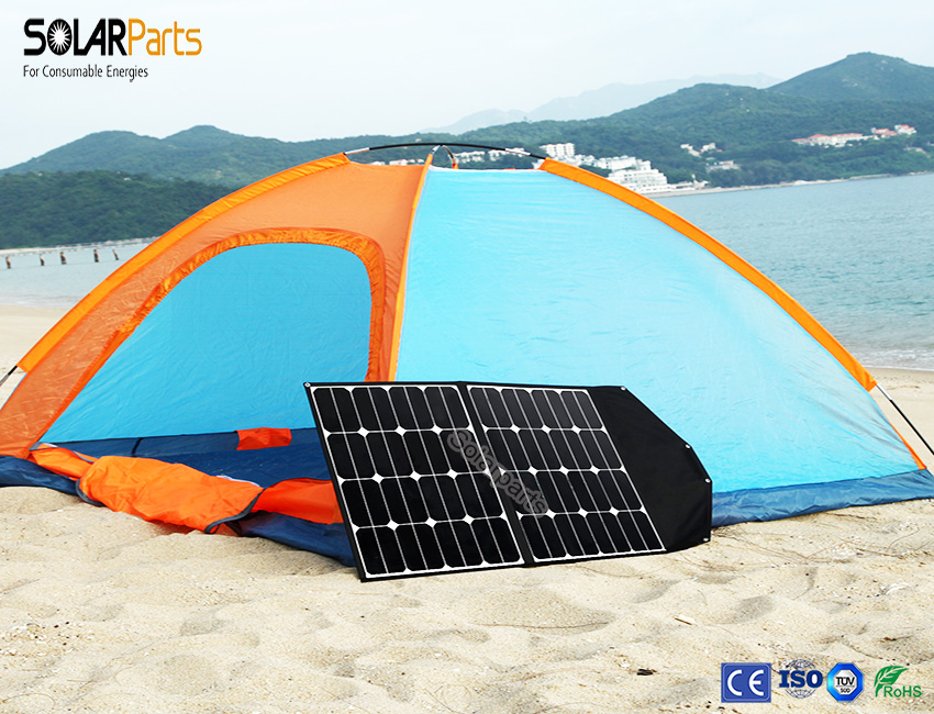 Solarparts 18v/60w solar panel high efficiency portable foldable solar charger for mobile phone battery charger cell