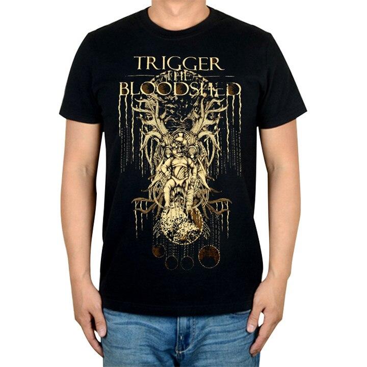 5 видов иллюстрации триггер Кровопролитный рок Бренд музыкальная футболка хлопок панк фитнес тяжелый рок металлическая война Танк Doomsday