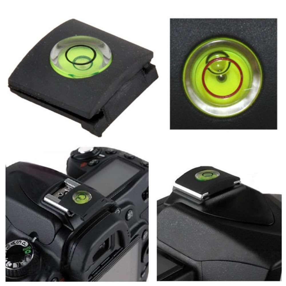 Bubble-Spirit-Cap Protective-Cover Hotshoe-Level Camera for Canon Nikon Pentax