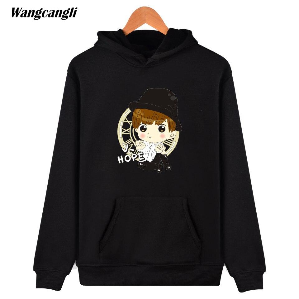 2017 wangcangli BTS Kpop Sweatshirt Women Hoodies Autumn Korean Popular Bangtan Hip Hop Women Hoodies Sweatshirt V Jin black 4XL ...