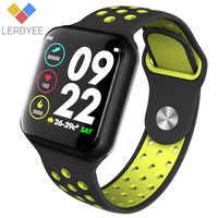 Lerbyee Astuto Della Vigilanza F8 Monitor di Frequenza Cardiaca Impermeabile IP67 Inseguitore di Fitness Sonno Monitor Smartwatch per iOS Android Regali