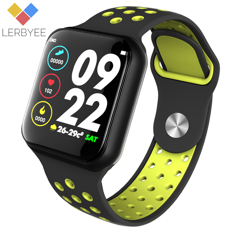 Lerbyee Smart Watch F8 Heart Rate Monitor Waterproof IP67 Fitness Tracker Watch Sleep Monitor Smartwatch For IOS Android Gifts