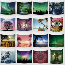 sea beach landscape high definition printing large towel mandala tapestry Wall Hanging Printed home decoration