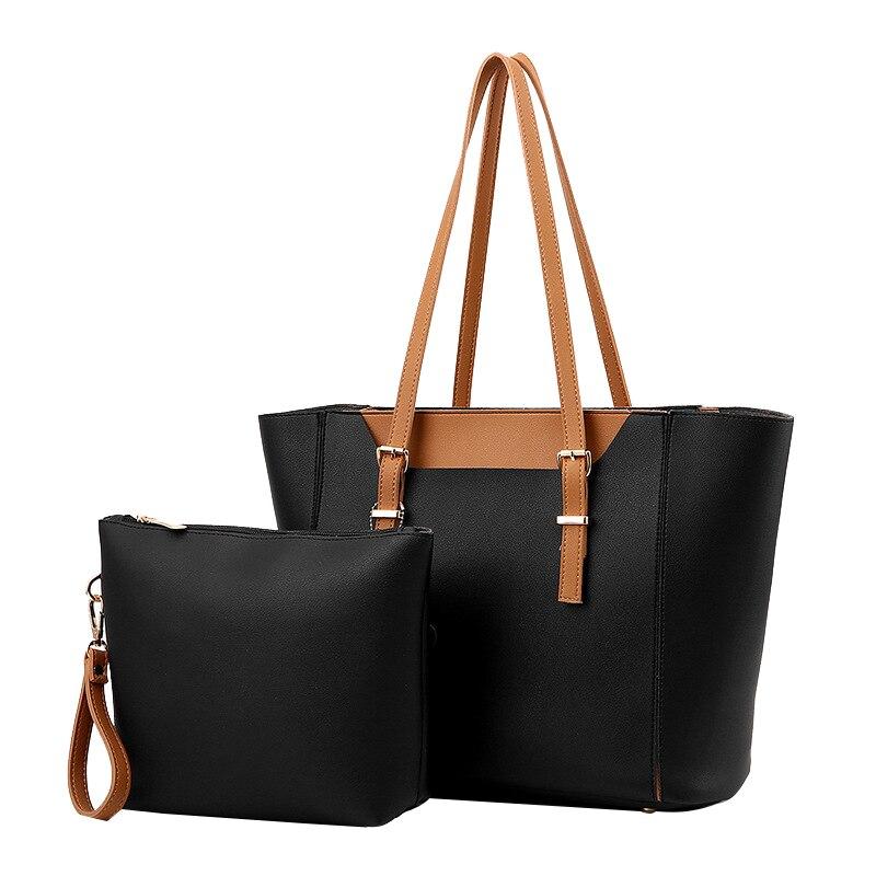 2 Sets Brand Large Capacity Tote Bag Composite Bags For Women Delicate High Quality Shoulder Messenger Lady Handbag