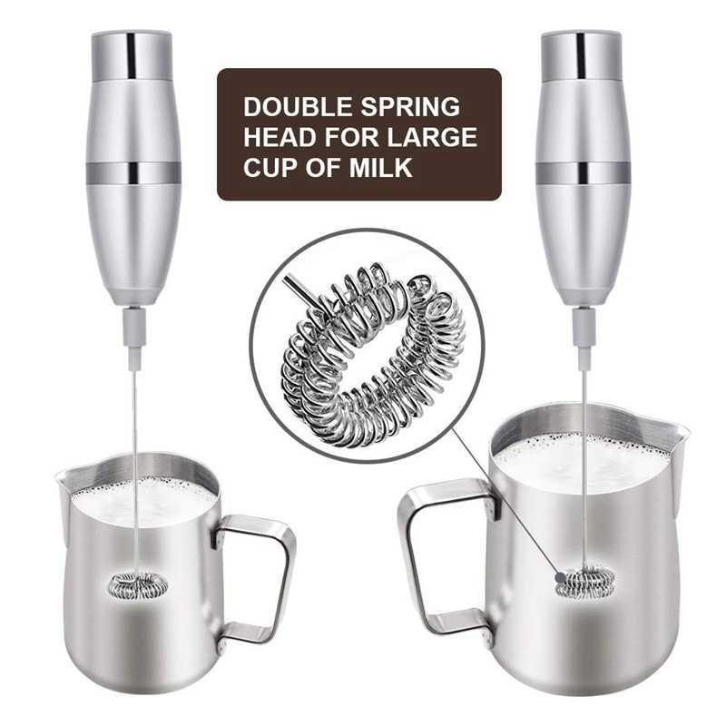 Liquidificador o leite-Batedor de Leite, Handheld Elétrico Gerador De Espuma Para Fazer Lattes Café, Cappuccinos, Chocolates Quentes, como Desnatadeira