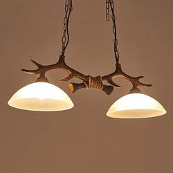 LED retro żyrandol salon lampa wisząca szkło z żywicy oprawy oświetleniowe oświetlenie sypialni wyposażenie domu jadalnia światła wiszące Wiszące lampki Lampy i oświetlenie -