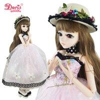 24 БЖД полный комплект + Doris лес Шляпник девушка 1/3 BJD куклы SD кукла 60 см 24 дюймов Объединенная куклы + аксессуары шляпа одежда обувь подарок