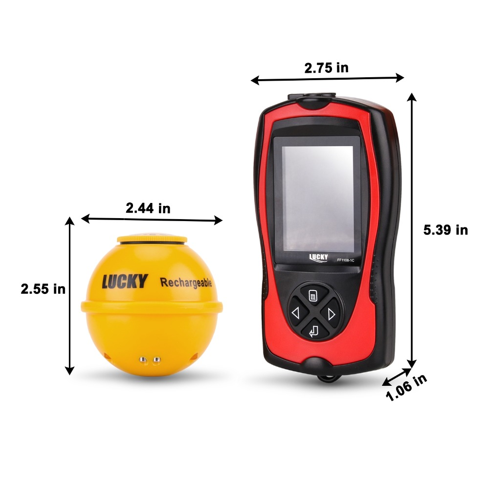 FF1108-1CWLA Rechargeable Findfish Wireless Remote Sonar Sensor 45M Water Depth High Definition LCD FishFinder Fish Finder Pesca (7)