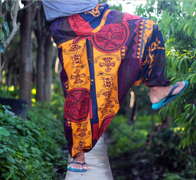 Large Size Nepal Big Crotch Pants Waist 113cm Fat Pants Linen