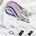 Artificial Crystal Neck Strap Lanyard U Disk Holder ID Work Card Mobile Cell Phone Chain Straps Keychain Hang Rope Lariat