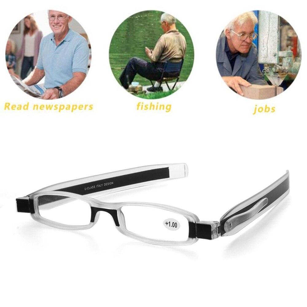 + 1,0 ~ + 4,0 Mode Tragbare Unisex 360 Grad Rotierenden Faltung Lesebrille Anti Brillen Müdigkeit Dünne Mini Brillen Mit Den Modernsten GeräTen Und Techniken