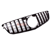 Racing Grille for Mercedes W204 GT Grille ABS Black Silver