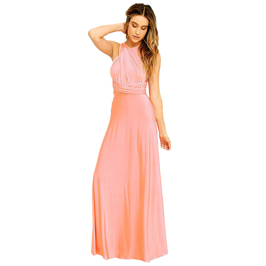 Online get cheap wrap bridesmaid dresses aliexpress alibaba new style women dress convertible multi way wrap bridesmaid long dress sexy fashion hot sales dresses ombrellifo Image collections