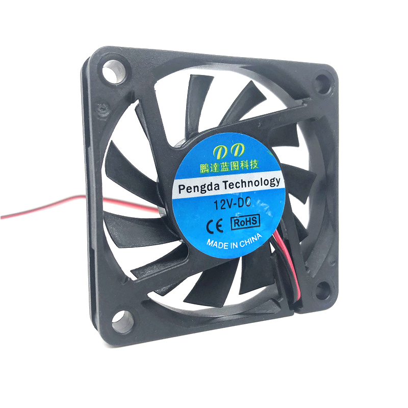 Gdt 6cm 60mm 60x60x10mm 12V DC 2510 2Pin Quiet PC Computer Cooler Cooling fan