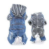 Stripe Pet Dog Clothes Autumn Winter Cotton Dogs Coat Jacket For Small Dogs Cats Four Legs