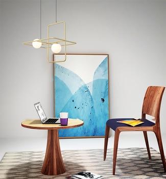 Moderne Lampe Suspendue Lumiere LED EINE Krippe Leuchtet Chambre Foyer Rond Boule De Verre Noir Oder Nordique Einfache Moderne Anhänger lampe
