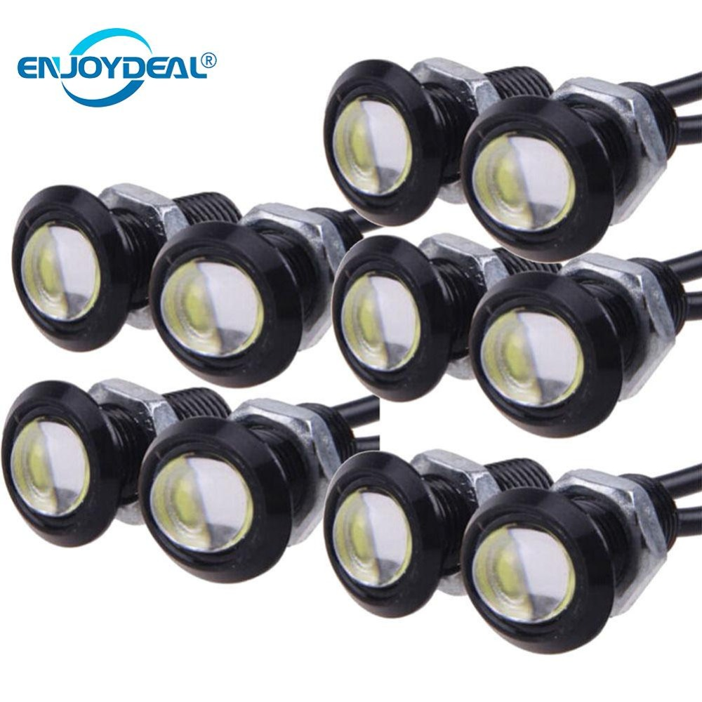 10PCS 12V 9W 18MM Car Eagle Eye DRL Led Daytime Running Lights  Waterproof Screw Lamp Car Styling Backup Parking Signal Led Bulb
