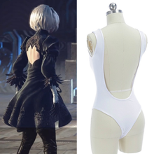 Cos NieR Automata Heroine 2B YoRHa No. 2 Type B Cosplay Costume Deep V T Back Tights