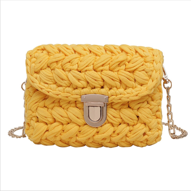 Mini Crossbody Handbags Hand Woven Bag For Women Cloth Line Bags Womens Knitting Pouch Fashion Female Chain PursesMini Crossbody Handbags Hand Woven Bag For Women Cloth Line Bags Womens Knitting Pouch Fashion Female Chain Purses