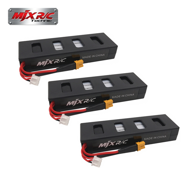Original 3PC 7.4v 1800mah 25C Li-poly Battery for MJX B3 Bugs 3...