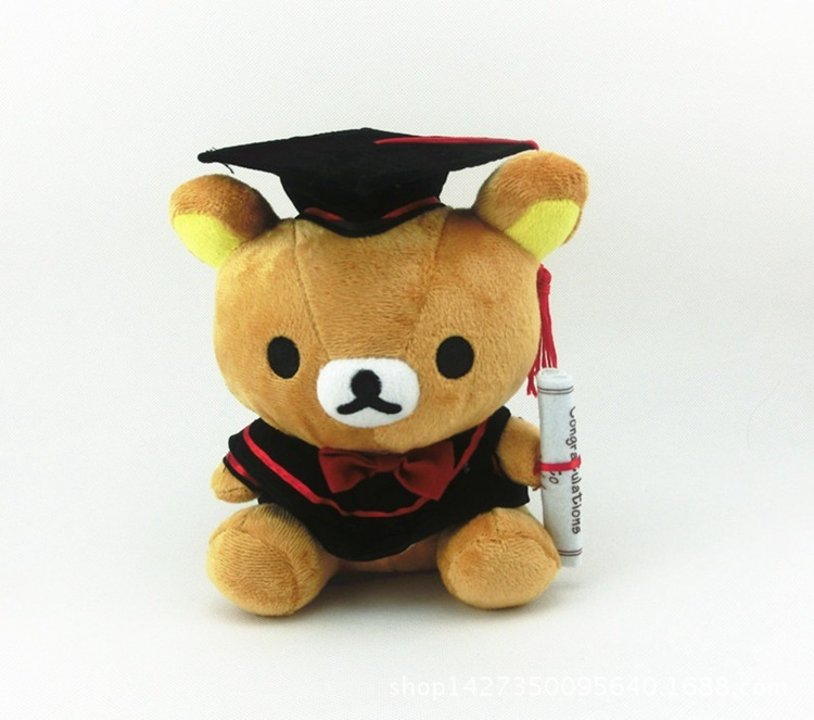 8 Styles Doctor Hat Stitch Soft Monekey Relaxed The Bear Cat Doctor Hat Plush Doll Toys For Graduate Students Kids Gifts Toy