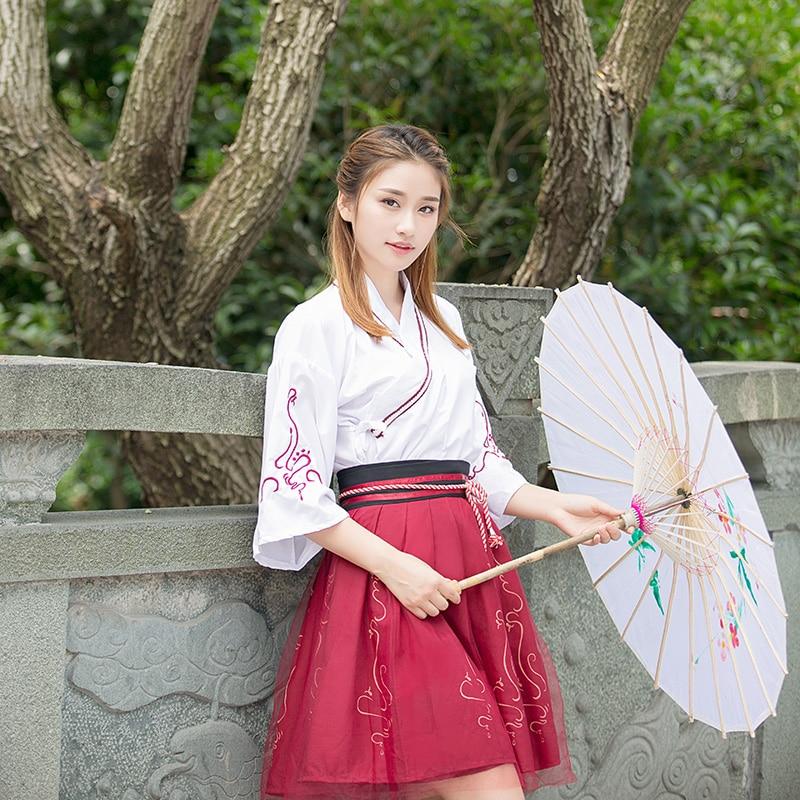 2018 autumn chinese ancient costume hanfu dresses traditional women  beautiful dance costumes cotton han dynasty dress 55956029e