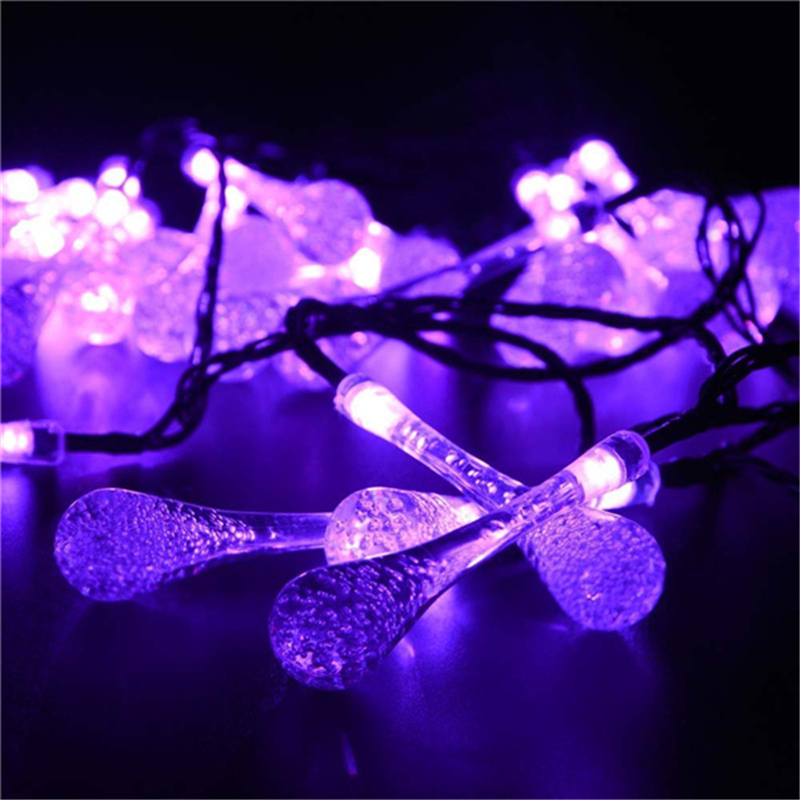 Premium Quality 6m 30 LED Solar Christmas Lights 8 Modes Waterproof Water Drop Solar Fairy ...