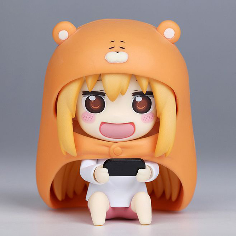 10cm Lovely Anime Himouto Umaru Action Figure with Box Cute Nendoroid Umaru PVC Figure Collection Model Toy Doll Kids Gift Toys 10cm spider man japanese anime lovely swing doll cute black panther mobile phone holder shaking head action