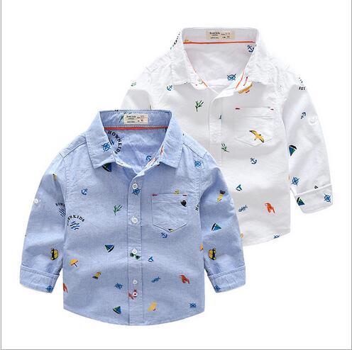Gewijd Retail 2018 Hot Ontwerp Basic Baby Fashion Shirt Baby Afdrukken Jongen Katoen Lange Mouw Volledige Mouw Tops Baby Shirt Matige Prijs