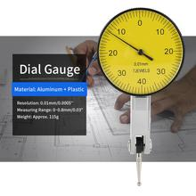 Accuracy 0.01mm Dial Indicator Dial Test Indicator Meter Tool Dial Gauge With Grey Case adjustable Dial Gauge Measuring Tools inner diameter gauge measuring rod probe no indicator accessories